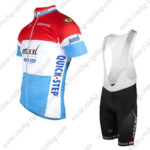 2016 Team etixxl QUICK STEP Riding Bib Kit Red White Blue