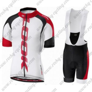 2016 Team LOOK Cycling Bib Kit White Red Black