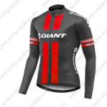 2017 Team GIANT Cycling Long Jersey Maillot Black Red