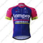 2017 Team Lampre MERIDA Cycling Jersey Maillot Shirt Blue Pink