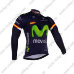 2016 Team Movistar Spain Cycling Long Jersey Maillot Blue