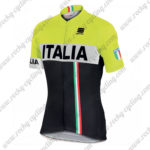 2017 Team ITALIA Sportful Cycling Jersey Maillot Shirt Yellow Black