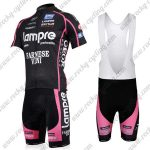 2011 Team Lampre FARNESE VINI Cycling Bib Kit Black Pink