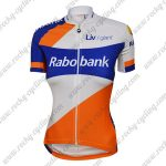2015 Team Rabobank Womens Lady Cycling Jersey Maillot Shirt White Blue Orange
