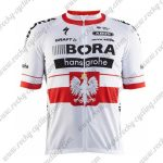 2017 Team BORA hansgrohe Poland Cycling Jersey White Red