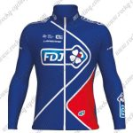 2017 Team FDJ Cycling Long Jersey Blue Red