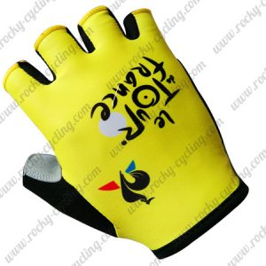 2017 Tour de France Cycling Gloves Mitts Yellow