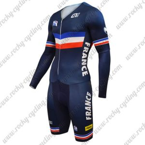 2018 Team France Cycling Skinsuit Blue