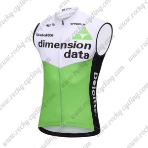 2018 Team Dimension data Cycling Sleeveless Jersey Vest White Green