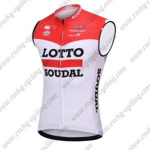 2018 Team LOTTO SOUDAL Cycling Sleeveless Jersey Vest Red White