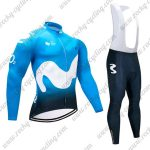 2018 Team Movistar Cycling Long Bib Suit Blue