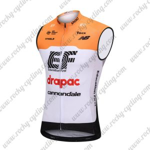 2018 Team drapac cannondale Cycling Sleeveless Jersey Vest Yellow White