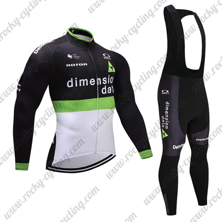 a68964621 ... Winter Biking Apparel Thermal Fleece Riding Long Jersey and Padded Bib  Pants Tights. 2017 Team Dimension data Cycling Long Bib Suit