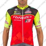 2017 Team Wilier Cycling Jersey Shirt Black Red Yellow