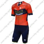 2018 Team BAHRAIN MERIDA Cycling Skin Suit Red Blue