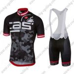 2018 Team Castelli Cycling Bib Kit Black Grey Red