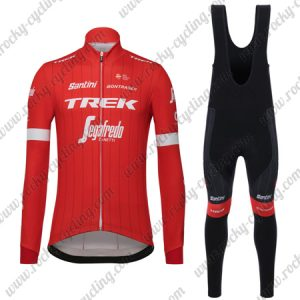 2018 Team TREK Segafredo Cycling Long Bib Suit Red