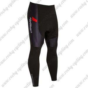 2018 Team Wilier Cycling Long Pants Tights Black Red