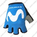 2018 Team Movistar Cycling Gloves Mitts Blue
