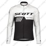 2019 SCOTT RC Team Biking Wear Riding Long Sleeves Jersey White Black