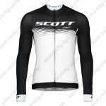 2019 SCOTT RC Team Cycling Clothing Riding Long Sleeves Jersey Black White