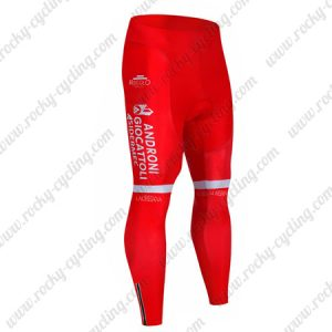 2019 Team ANDRONI GIOCATTOLI Biking Outfit Cycle Long Pants Tights Red
