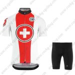 2019 Team ASSOS SUISSE Biking Clothing Riding Kit White Red