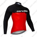 2019 Team Cervelo Riding Wear Cycling Long Sleeves Jersey Black Red