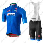 2019 Team SUZUKI Castelli Cycle Wear Riding Bib Kit Blue
