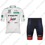 2019 Team TREK Segafredo Santini Fertiberia Biking Apparel Cycling Bib Kit White Green