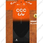 2019 Team CCC Liv Riding Outfit Cycle Clothing Kit Orange