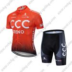 2019 Team CCC RENO Riding Wear Cycle Kit Orange