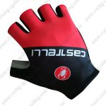 2019 Team Castelli Riding Gloves Cycle Mitts Black Red