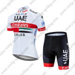 2019 UAE TEAM Emirates EMAAR Cycling Clothing Riding Kit White Red