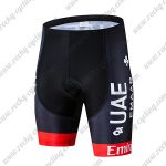 2019 UAE TEAM Emirates EMAAR Cycling Clothing Riding Shorts Bottoms Black Red