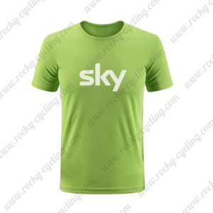 2019 Team SKY Riding Clothing Cycling T-Shirt Round Neck Short Sleeves Green